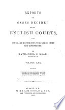 Reports of Cases Decided by the English Courts