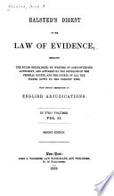 Halsted s Digest of the Law of Evidence