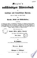 Mozin s Vollstandiges worterbuch der deutschen und franzolischen sprache