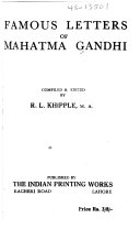 Famous Letters of Mahatma Gandhi