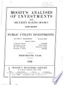 Moody s Manual of Investments