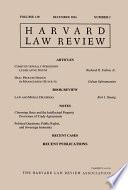 Harvard Law Review: Volume 130, Number 2 - December 2016