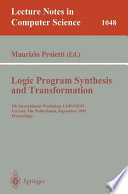 Logic Program Synthesis and Transformation