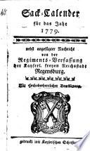 Sack-Calender für das Jahr 1779