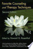 Favorite Counseling and Therapy Techniques  Second Edition