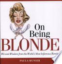 On Being Blonde