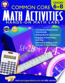 Common Core Math Activities  Grades 6   8