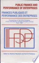 Finances publiques et performance des entreprises
