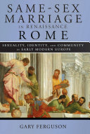 Same Sex Marriage in Renaissance Rome