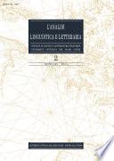L'Analisi Linguistica e Letteraria 2007-2