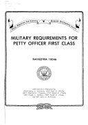 Military requirements for petty officer first class