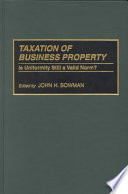 Taxation of Business Property Free download PDF and Read online