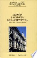 Memoria e restauro dell architettura