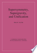 Supersymmetry  Supergravity  and Unification