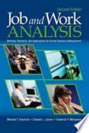 Job and Work Analysis