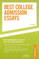 Peterson s Best College Admission Essays