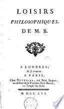 Loisirs philosophiques