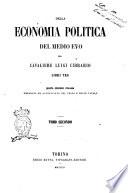 Della economia politica del Medio Evo libri tre di Luigi Cibrario