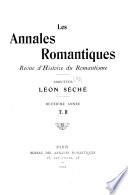 Les Annales romantiques