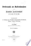 Arbeiten der Deutschen Landwirtschafts Gesellschaft