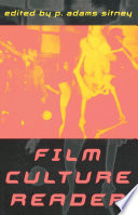 Film Culture Reader Avant Garde Film Commentary Includes Contributors Like Charles Boultenhouse Erich