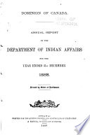 Annual Report Of The Department Of Indian Affairs