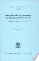 Anthropologische Voraussetzungen der Staatstheorie Rudolf Smends
