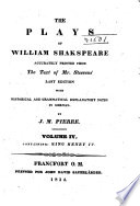 The Plays of William Shakspeare: King Henry IV, part 1