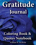 Gratitude Journal  Coloring Book   Quotes Noteboook