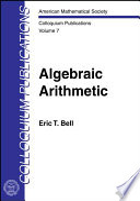 Algebraic Arithmetic