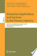 Enterprise Applications and Services in the Finance Industry