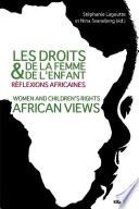 Les droits de la femme et de l enfant  r  flexions africaines