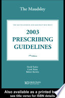 The Maudsley 2003 Prescribing Guidelines