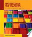 Mathematics for Teachers  An Interactive Approach for Grades K 8