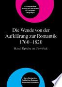 Die Wende Von Der Aufklärung Zur Romantik 1760-1820