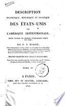 Description Statistique  Historique Et Politique Des Etats Unis De L Amerique Septentrionale