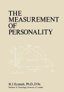 The Measurement Of Personality book