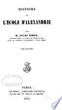 Histoire de L   cole D Alexandrie