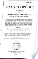 Encyclopedie moderne ou Bibliothéque universelle de toutes les connaissances humaines