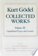 Kurt G  del  Collected Works  Volume III