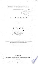 History of Rome  by H  Malden