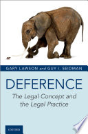 Deference : the legal concept and the legal practice document cover