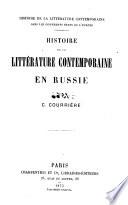 Histoire de la litterature contemporaine en Russe