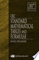 CRC Standard Mathematical Tables and Formulae  31st Edition
