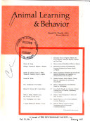 Animal Learning   Behavior