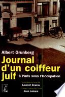 Journal d un coiffeur juif    Paris  sous l Occupation