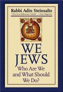 Ebook We Jews Epub Adin Steinsaltz Apps Read Mobile