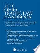 Ohio Traffic Law Handbook 2016 Edition