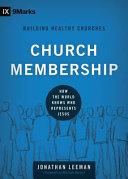 Church Membership Book Cover