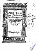 The Abridgement of the Booke of Assizes, Lately Perused Over, and Corrected. B.L.